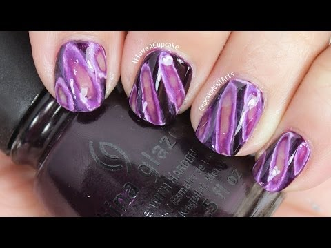 Purple Geode Inspired Nail Art