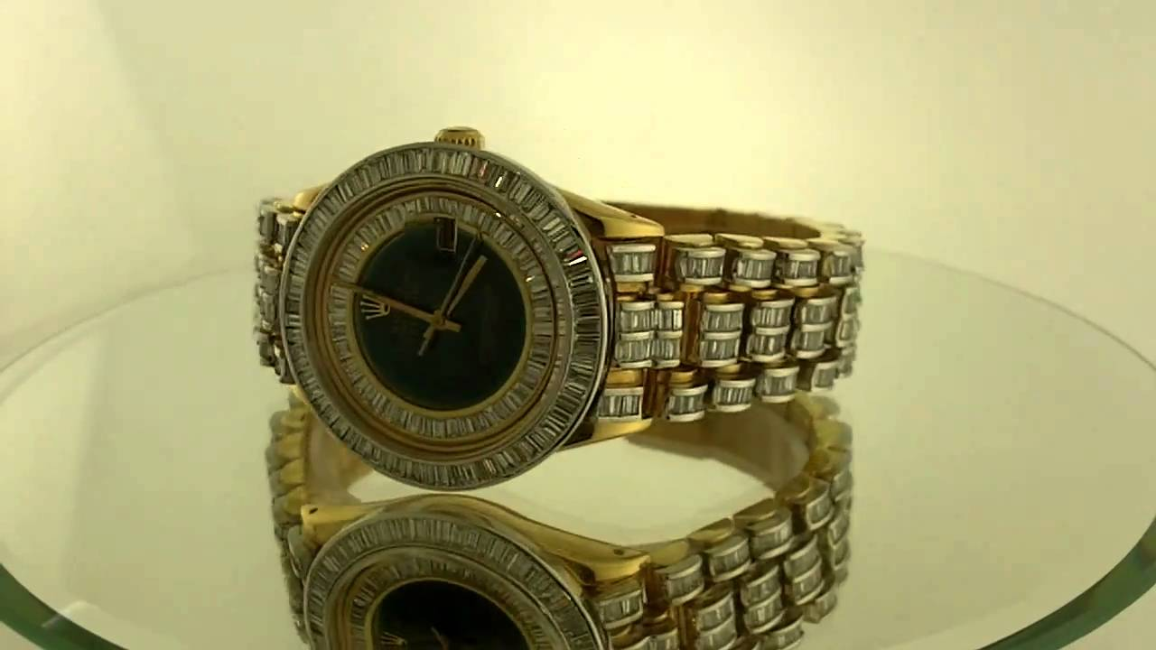 Rolex Presidential Watch With Full Diamond Band 18k Gold