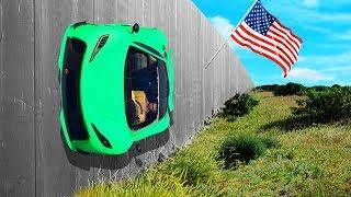 RIDE THE TRUMP U.S.A WALL! (GTA 5 Funny Moments)
