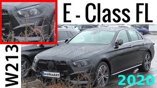 Mercedes Erlkönig E-Klasse MoPf 2020 E-Class Facelift W213 prototype- 4K SPY VIDEO