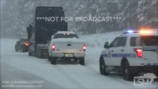 01-20-2017 - Flagstaff, AZ - Snow plows, multiple accidents, cars stranded on I 17