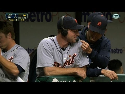 Scherzer is fed seeds by Anibal