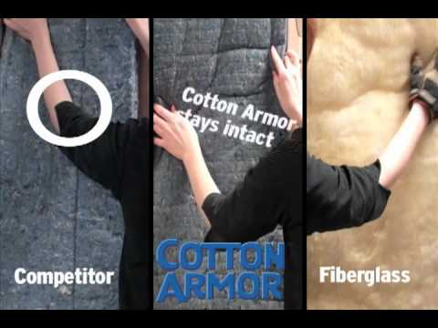 Cotton Armor Compared to Fiberglass and Leading Competitor