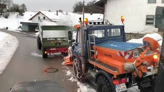 Winterdienst Schneefräse Unimog 2019
