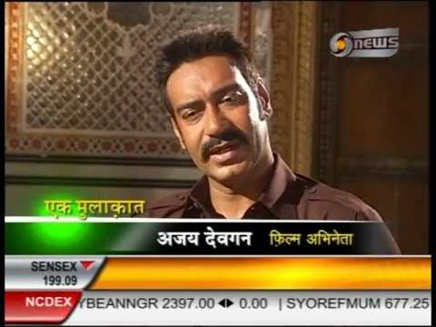 Manoj Tibrewal Aakash interviewed Ajay Devgan for Doordarshan News's Ek Mulaqat (Part-1)
