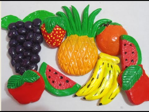 Diy adornos de frutas fruits ornaments clay tutorial - Adornos para casa ...