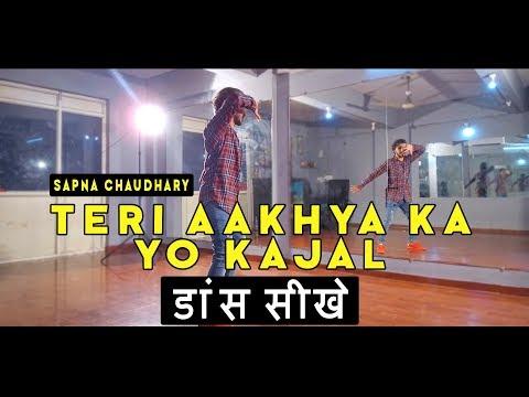 Dance Tutorial Teri aakhya Ka Yo Kajal Step by Step | Vicky Patel Choreography | Sapna Chaudhary