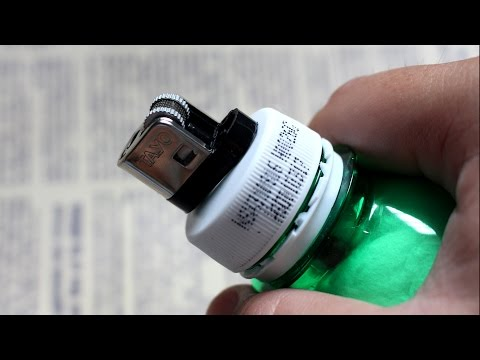 How to make a lighter using plastic bottle