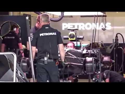 Mercedes AMG Petronas Engine Revving - 2015 Austrian GP