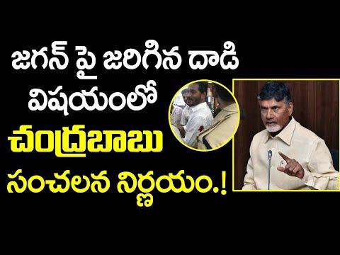 జగన్ పై జరిగిన దాడి విషయంలో చంద్రబాబు సంచలన నిర్ణయం | Attack on YS Jagan | Chandrababu naidu