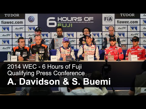 Qualifying Press Conference - Anthony Davidson & Sébastien Buemi, FIA WEC Fuji 2014