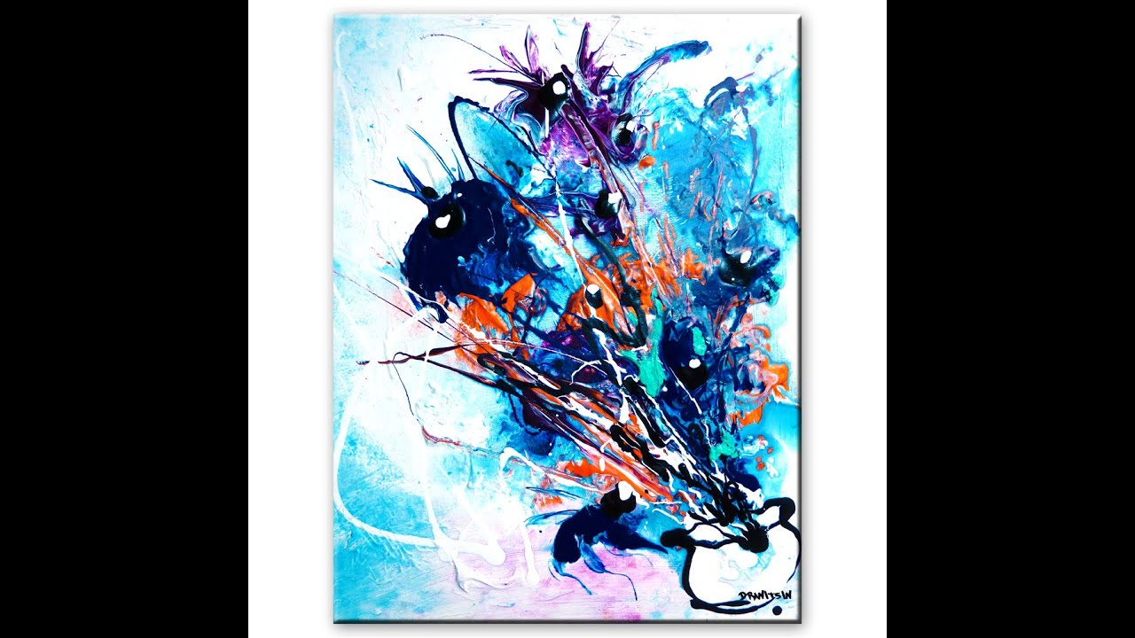 Stunning abstract painting of flowers step by step art for Step by step painting tutorial