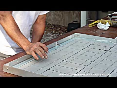 How to Build a Solar Panel - Part 2 of 3 (New)lower your power bill.Free electricity