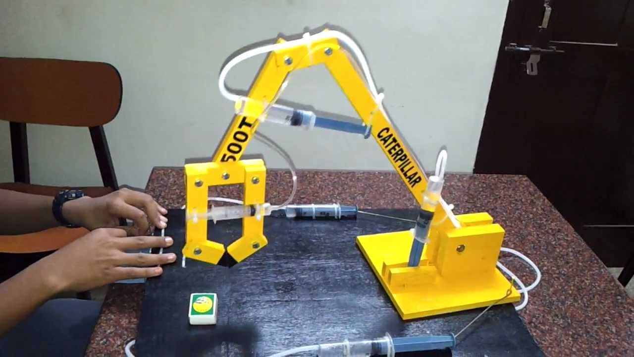 Hydraulic Arm T Bot : Hydraulic arm project youtube