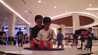 Overall Doubles Sport Stacking World Record 5.884 (Chan Keng Ian and Jun Xian Wong)