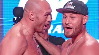 'The Gypsy King' HEATED FACE OFF & FINAL WORDS!! Tyson Fury vs. Tom Schwarz