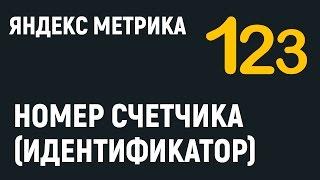 Яндекс Метрика. Как узнать номер или идентификатор счетчика.