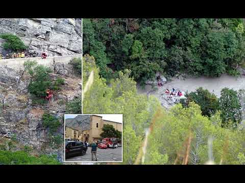 At least ten people dead as flash floods sweep through gorge packed with hikers in southern Italy