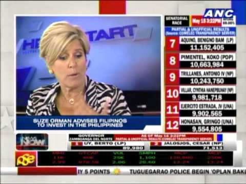 Suze Orman advises Filipinos to invest in PH