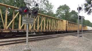 HD 6/27/2013 Railfanning Part 2 - Monster Pan Am Train SEPO @ Cook's Crossing w/ CSX GEVO's