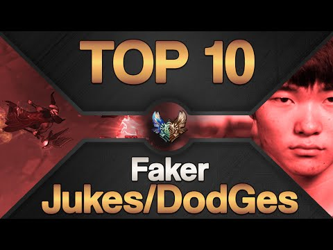 [Top 10] Best Faker Dodges/Jukes on League of Legends | Awesome Play's