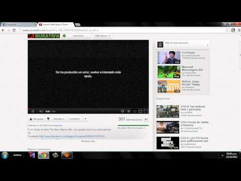 Problema / google chrome no reproduce los videos ni abre paginas oficiales