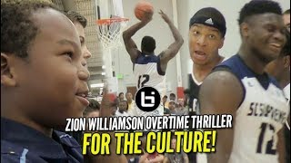 Zion Williamson Overtime THRILLER vs Notre Dame Commit: Standing Room ONLY!