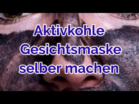 Aktivkohle Gesichtsmaske selber machen ohne Gelatine ohne Kleber | Blackhead DIY | Anti Mitesser