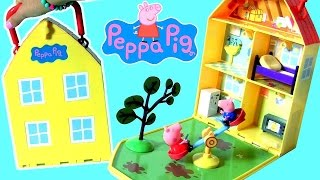 Peppa's Home & Garden Playset Carrying Case with See-Saw Piggy George ❤ NEW ❤ Peppa Pig 2017