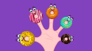The Finger Family Donuts Family Nursery Rhyme | Donuts Finger Family Songs
