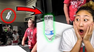 CRAZY WATER BOTTLE FLIP TRICK ON STAGE!!