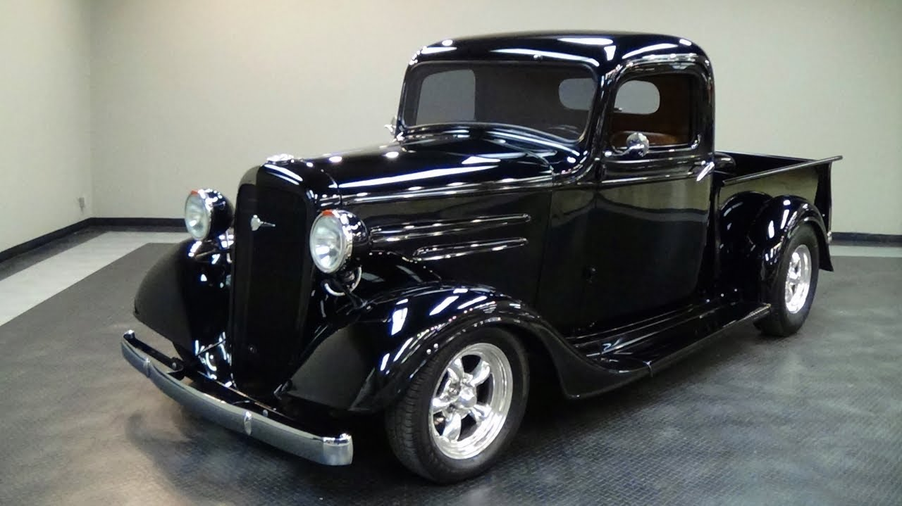 1936 chevrolet street rod pickup truck v8 youtube. Black Bedroom Furniture Sets. Home Design Ideas
