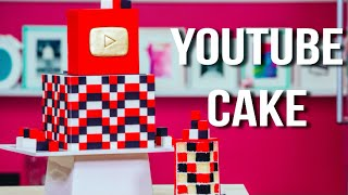 How To Make A YOUTUBE CAKE with CHECKERBOARD SURPRISE INSIDE! Happy Birthday SUSAN!