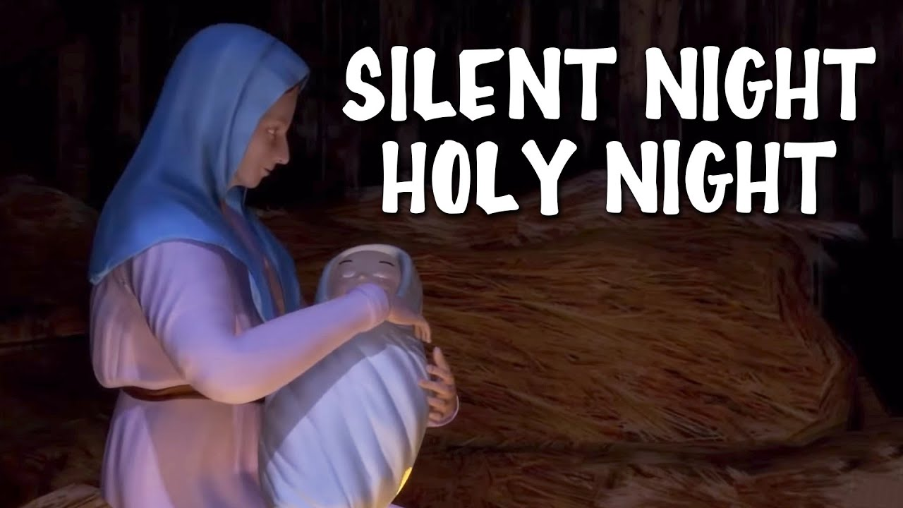 Silent Night Holy Night | Christmas Song With Lyrics - YouTube