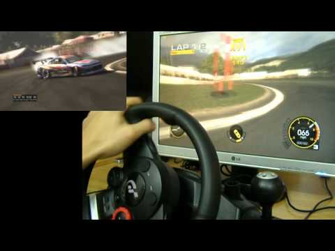 Drifting in Grid - Logitech Driving Force GT All Assists: OFF