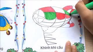 Chị Chim Xinh TÔ MÀU CÁC PHƯƠNG TIỆN GIAO THÔNG - Coloring Means of transport (P1)