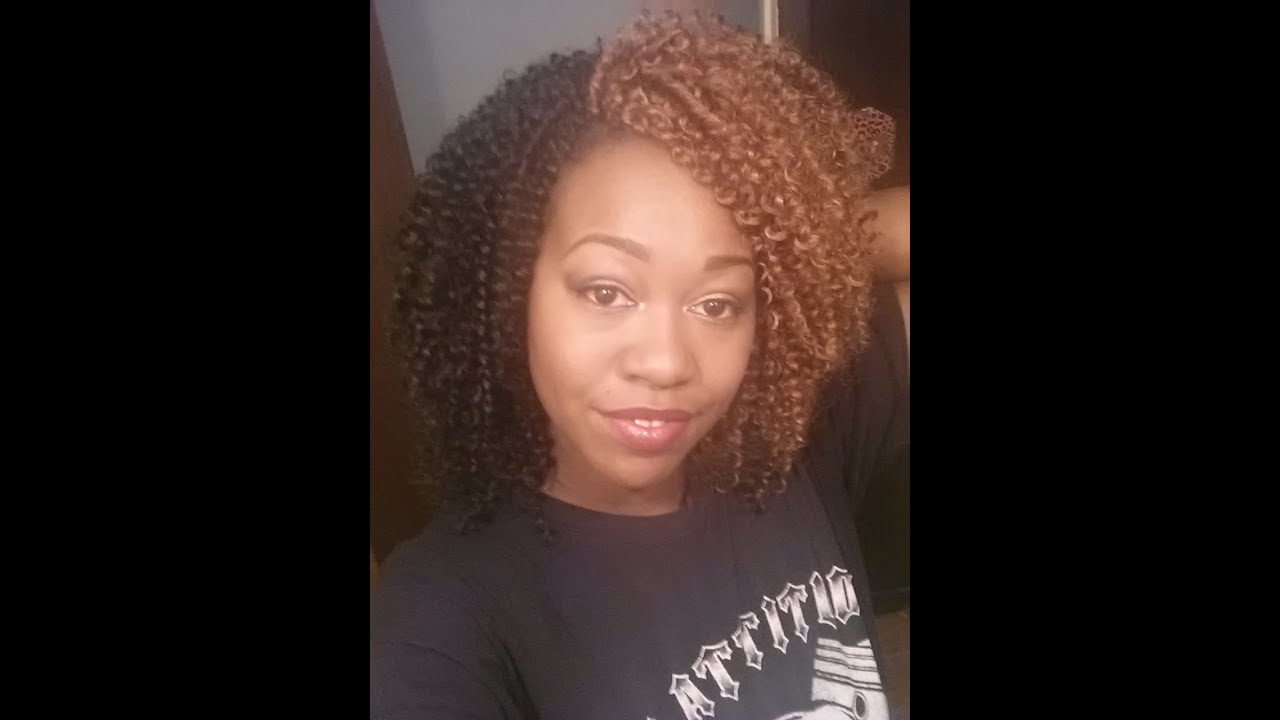 Model Model Glance Soft Water Crochet Braids - YouTube