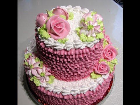 """""""Оформление 2-х ярусного торта"""""""