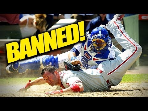 Home Plate Collisions Banned in Baseball!!