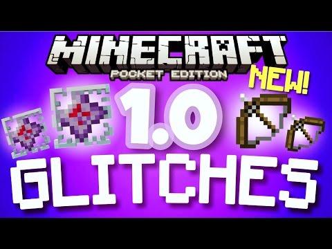 ✔️Minecraft PE 1.0 GLITCHES - Cool working MCPE 1.0 glitches [Minecraft Pocket Edition 1.0]