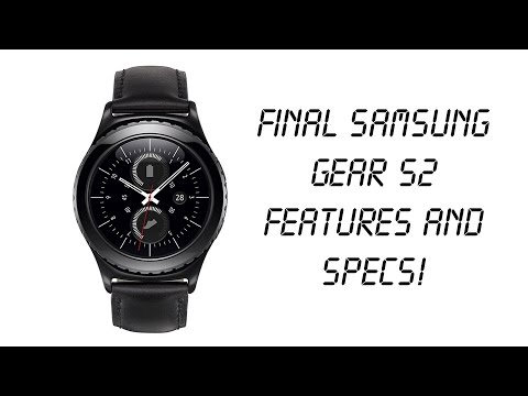 Samsung (Galaxy) Gear S2 Final SPECS and FEATURES released! (Smartwatch feature review)