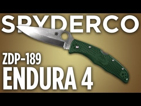 Spyderco Endura 4. ZDP-189. Knife Review