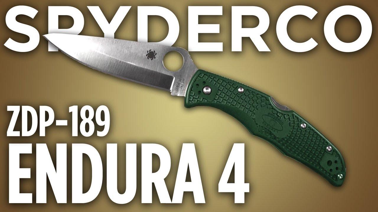 Spyderco Endura Green Spyderco Endura 4 Zdp-189