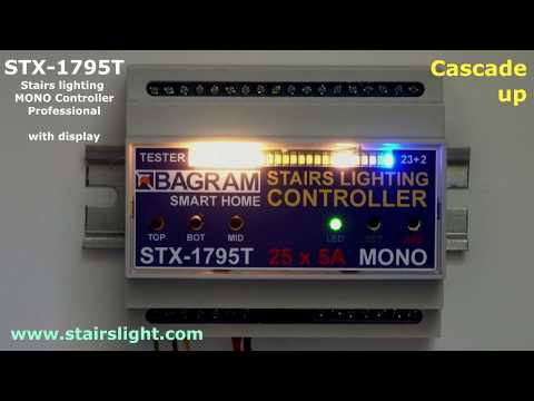 Stairs lighting MONO Controller STX-1795 with display