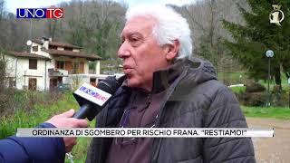 """Ordinanza di sgombero per rischio frana. """"Resistiamo!"""""""