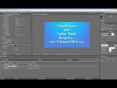 How to Export HD H.264 Video in AE