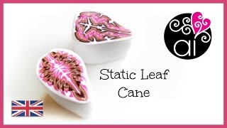 Static Leaf Cane |  Polymer Clay Tutorial | Millefiori Cane DIY | English Version