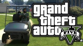 GTA 5: Funny Moments! #2 - Golf, Police Chases, Planes! - (GTA V Adventures)