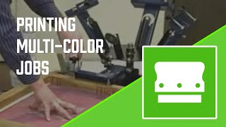 How-to screen printing a multiple color print