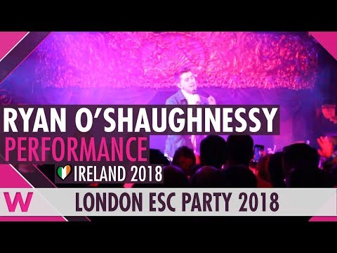 "Ryan O'Shaughnessy ""Together"" (Ireland 2018) Interview @ London Eurovision Party 2018"